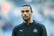 Andy Carroll (#7) of Newcastle United ahead of the Premier League match between Newcastle United and Brighton and Hove Albion at St. James's Park, Newcastle, England on 21 September 2019.
