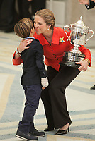Enfant Elena of Spain awards Alejandro Rodriguez during the 2013 Sports National Awards ceremony at El Pardo palace in Madrid, Spain. December 03, 2014. (ALTERPHOTOS/Victor Blanco)