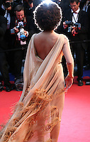 Solange Knowles faces photographers at the gala screening of The Great Gatsby at the Cannes Film Festival on 15th May 2013, Cannes, France.