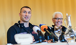 11.11.2015, Stanglwirt, Going, AUT, Wladimir Klitschko, Pressekonferenz, Kampfvorbereitung gegen Tyson Fury (GBR), im Bild v.l.: der WBA, WBO, IBO und IBF-Schwergewichts-Box-Weltmeister Wladimir Klitschko (UKR) und sein Manager Bernd Bönte // f.l.: the Ukrainian WBA, WBO, IBO and IBF heavyweight boxing world champion Wladimir Klitschko and his Manager Bernd Bönte during a pressconference at the Stanglwirt in Going, Austria on 2015/11/11. Klitschko will be challenged by British boxer Tyson Fury for the world heavyweight crown in Duesseldorf, Germany on 28 November 2015. EXPA Pictures © 2015, PhotoCredit: EXPA/ JFK