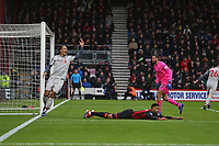Football - 2018 / 2019 Premier League - AFC Bournemouth vs. Liverpool<br /> <br /> Virgil van Dijk of Liverpool complains about Bournemouth's Joshua King after he went over under a challenge from Alisson of Liverpool at the Vitality Stadium (Dean Court) Bournemouth <br /> <br /> COLORSPORT/SHAUN BOGGUST