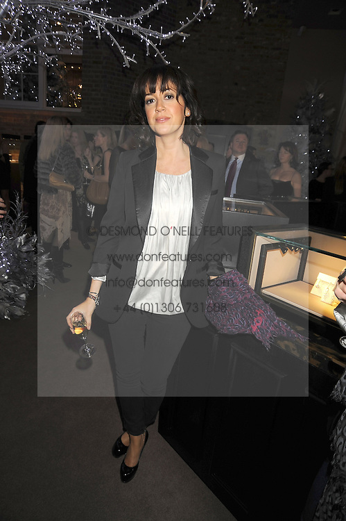 Actress SHEREE MURPHY at the Asprey Winter Wonderland party held at their store, 167 New Bond Street, London on 4th December 2008.