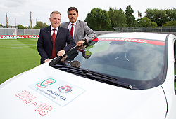 NEWPORT, WALES - Wednesday, August 7, 2013: Wales' manager Chris Coleman during a press conference at Dragon Park FAW National Development Centre. (Pic by David Rawcliffe/Propaganda)