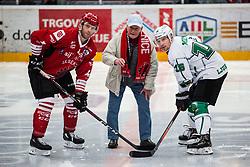 TAVZELJ Andrej, MUSIC Ales  and Boris CEBULJ during Alps League Ice Hockey match between HDD SIJ Jesenice and HK SZ Olimpija on December 20, 2019 in Ice Arena Podmezakla, Jesenice, Slovenia. Photo by Peter Podobnik / Sportida