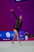 Varay Mira during the qualification of clubs at the Pesaro World Cup 2018. She was born in Budapest Hungary in 2001.