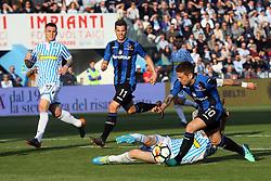 """Foto Filippo Rubin<br /> 07/04/2018 Ferrara (Italia)<br /> Sport Calcio<br /> Spal - Atalanta - Campionato di calcio Serie A 2017/2018 - Stadio """"Paolo Mazza""""<br /> Nella foto: ALEJANDRO GOMEZ (ATALANTA)<br /> <br /> Photo by Filippo Rubin<br /> April 07, 2018 Ferrara (Italy)<br /> Sport Soccer<br /> Spal vs Atalanta - Italian Football Championship League A 2017/2018 - """"Paolo Mazza"""" Stadium <br /> In the pic: ALEJANDRO GOMEZ (ATALANTA)"""