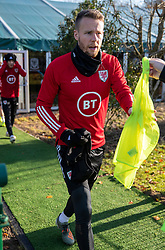 CARDIFF, WALES - Monday, November 18, 2019: Wales' Chris Gunter during a training session at the Vale Resort ahead of the final UEFA Euro 2020 Qualifying Group E match against Hungary. (Pic by David Rawcliffe/Propaganda)