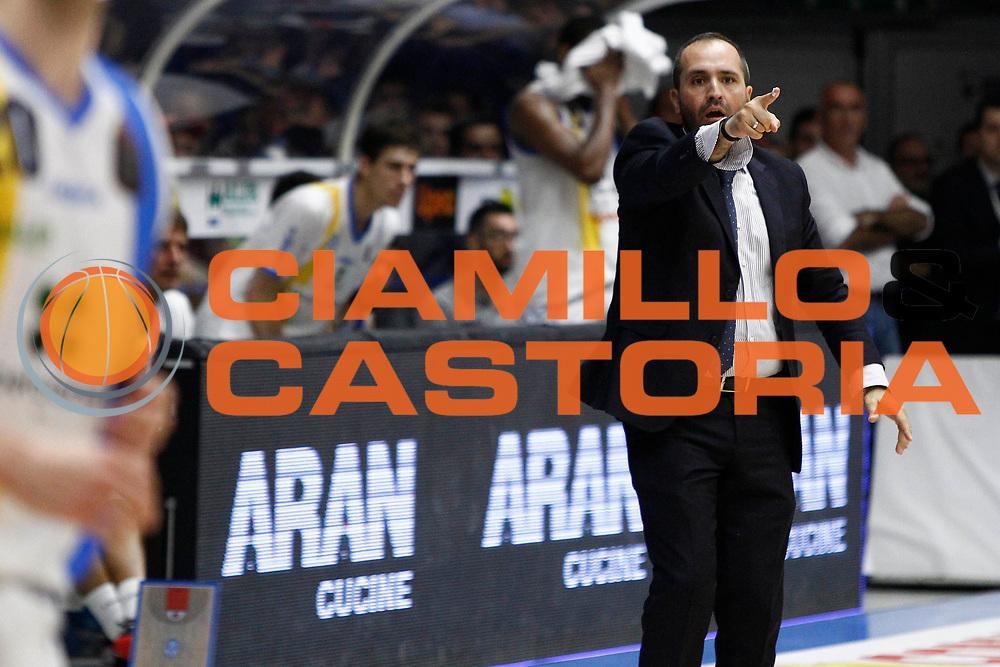 Coach Di carlo<br />Betaland Capo D'Orlando Vs EA7 Emporio Armani Olimpia Milano<br />Playoff Gara 4<br />LegaBasket 2016/2017<br />Capo d&rsquo;Orlando 18/05/2017<br />Foto Ciamillo-Castoria