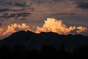Dramatic cloud formations over the Wasatch Mountains, Salt Lake City, Utah