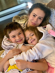 """Alyssa Milano releases a photo on Twitter with the following caption: """"""""Family photo thread. Please share your photos in the replies! <br /> <br /> #SaturdayMorning"""""""". Photo Credit: Twitter *** No USA Distribution *** For Editorial Use Only *** Not to be Published in Books or Photo Books ***  Please note: Fees charged by the agency are for the agency's services only, and do not, nor are they intended to, convey to the user any ownership of Copyright or License in the material. The agency does not claim any ownership including but not limited to Copyright or License in the attached material. By publishing this material you expressly agree to indemnify and to hold the agency and its directors, shareholders and employees harmless from any loss, claims, damages, demands, expenses (including legal fees), or any causes of action or allegation against the agency arising out of or connected in any way with publication of the material."""