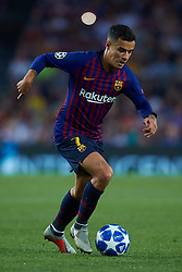 September 18, 2018 - Barcelona, Barcelona, Spain - Coutinho of FC Barcelona in action during the UEFA Champions League group B match between FC Barcelona and PSV Eindhoven at Camp Nou on September 18, 2018 in Barcelona, Spain  (Credit Image: © Sergio Lopez/NurPhoto/ZUMA Press)