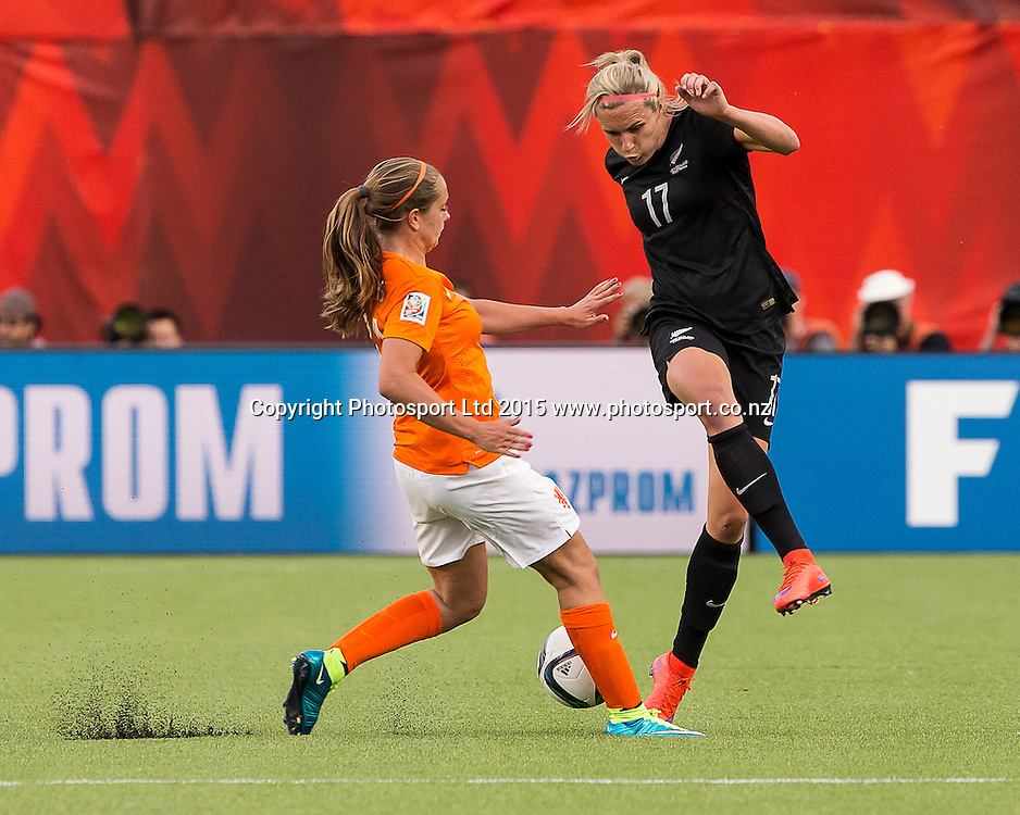 Hannah Wilkinson. Edmonton, Alberta, Canada, June 6, 2015.  The opening day of the Women's World Cup at Commonwealth Stadium.  New Zealand was defeated by Netherlands 1-0.