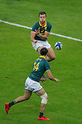 Handre Pollard (Republic of South Africa - SpringBok) to Dillyn Leyds (Republic of South Africa - SpringBok) before scored a try during the 2017 Autumn Test Rugby Union match between France and South Africa on November 18, 2017 at Stade de France in Saint-Denis, France - Photo Stephane Allaman / ProSportsImages / DPPI