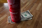 Ballard Elks Club. Two dollar tip left under a can of Budweiser Beer.<br /> <br /> Matt Lutton / Boreal Collective for Buzzfeed
