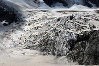 Russia, Caucasus, Kashkatash glacier in Adylsu valley, a side valley to Baksan valley and Elbrus.