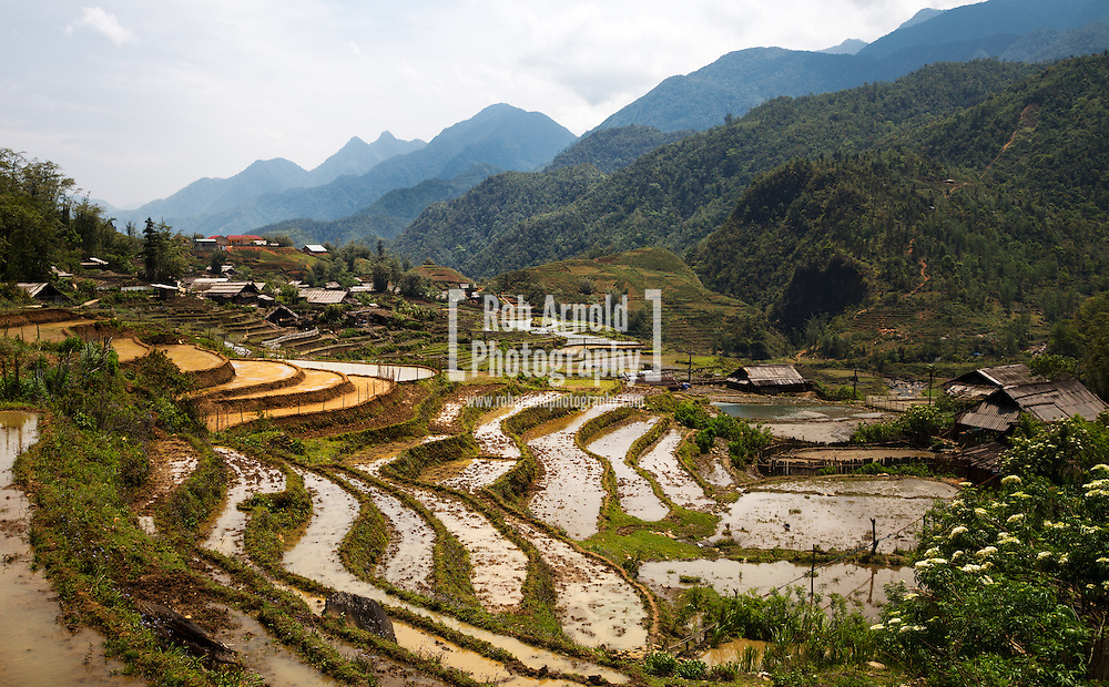 17/04/2013 - Sa Pa, Vietnam. A small village surrounded by rice paddies in the mountains near to Sa Pa, Northern Vietnam. Photo by Rob Arnold