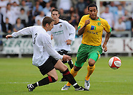 Dartford - Saturday July 11 2009: John Ostemobor of Norwich City and Adam Gross of Dartford during the friendly match at Princes Park. (Pic by Alex Broadway/Focus Images)..