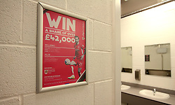 Bristol City poster in toilets - Mandatory by-line: Robbie Stephenson/JMP - 20/12/2017 - FOOTBALL - Ashton Gate Stadium - Bristol, England - Bristol City v Manchester United - Carabao Cup Quarter Final