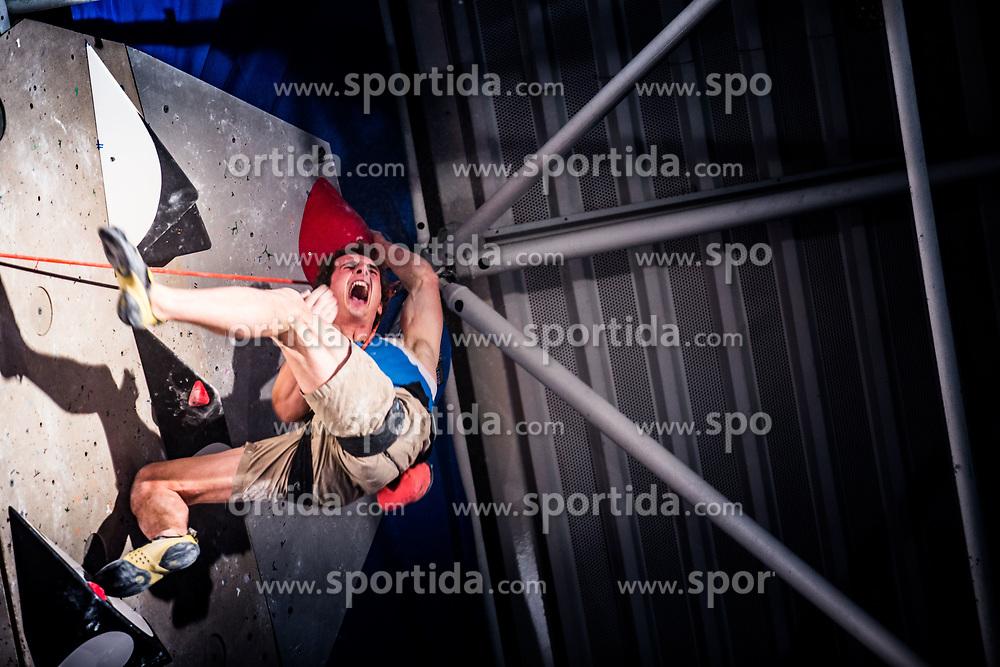 ONDRA Adam of CZE celebrating during Finals IFSC World Cup Competition in sport climbing Kranj 2019, on September 29, 2019 in Arena Zlato polje, Kranj, Slovenia. Photo by Peter Podobnik / Sportida