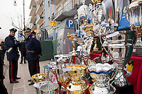 Gallipoli (LE), sfilata di carnevale 2011. Premi in attesa di venir assegnati ai carri e ai gruppi più belli...Prizes waiting to be assigned to the most beautifu carts and groupsl.