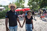 Jour de marché à Maniche, commune d'Haïti située dans le département du Sud et l'arrondissement des Cayes.