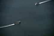 4/25/14 :: FILE :: The Cross Sound ferries M/V New London, left, and M/V John H. motor through Long Island Sound Aerial file photos Friday, April 25, 2014.  (Sean D. Elliot/The Day)