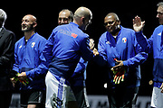 Zinedine Zidane (France 98), Bernard Lama (France 98), Fabien Barthez (France 98), Laurent Blanc (France 98) during the 2018 Friendly Game football match between France 98 and FIFA 98 on June 12, 2018 at U Arena in Nanterre near Paris, France - Photo Stephane Allaman / ProSportsImages / DPPI