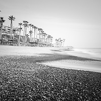 San Clemente CA beach black and white photography. San Clemente is a popular coastal beach city along the Pacific Ocean in Orange County Southern California. Photo is high resolution at 42MP. Copyright ⓒ 2017 Paul Velgos with All Rights Reserved.