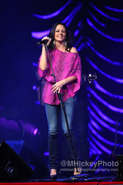 Sara Evans performs at the Best Buy Country Music Expo at the Indiana State Fairgrounds in Indianapolis, Indiana.