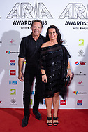 Troy Cassar-Daley and Laurel Edwards at The 2018 ARIA Awards at The Star in Sydney, Australia