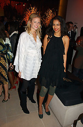 Left to right, FIONA SCARRY and SOLONI LODHA at the launch party for Donna Karan's new fragrance Gold held at the Donna Karan store, 19 New Bond Street, London on 16th November 2006.<br />