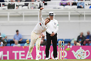 Joe Root of Yorkshire bowling during the Specsavers County C'ship Div One match at the Kia Oval, London<br /> Picture by Simon Dael/Focus Images Ltd 07866 555979<br /> 11/05/2018