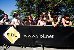 Fans at Ljubljanski Grad at 2nd stage of Tour de Slovenie 2009 from Kamnik to Ljubljana, 146 km, on June 19 2009, Slovenia. (Photo by Vid Ponikvar / Sportida)