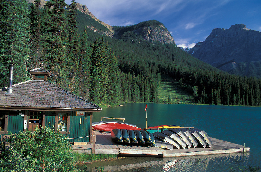 Boat House at Emerald Lake, Yoho National Park, British Columbia, Canada