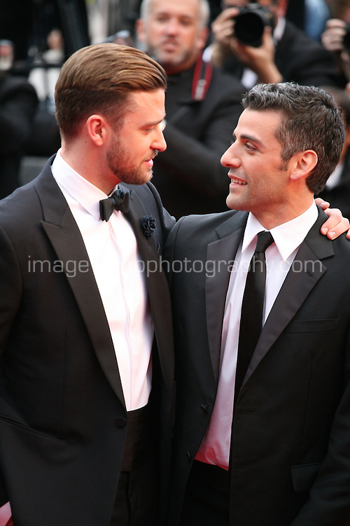 Justin Timberlake, Oscar Isaac,.at the The Coen brother's new film 'Inside Llewyn Davis' red carpet gala screening at the Cannes Film Festival Sunday 19th May 2013