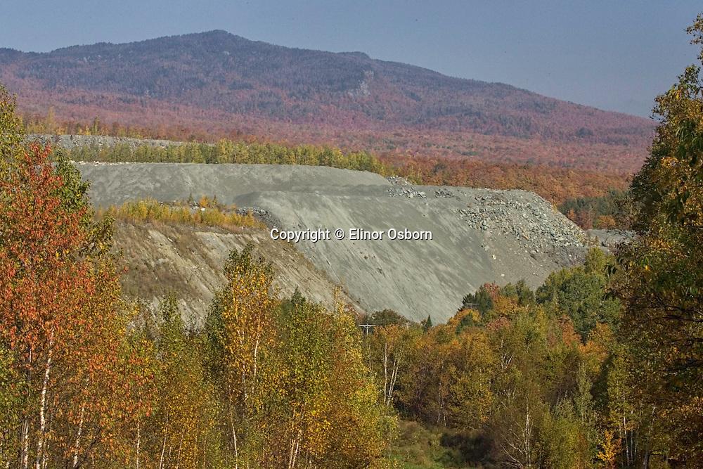 Asbestos mine on Belvidere Mountain
