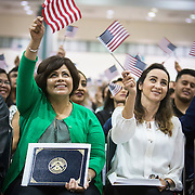 Over 6,600 Immigrants from more than 130 countries were sworn in as new citizens of the United States at a naturalization ceremony in Los Angeles.