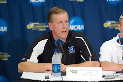 26 May 2007: Duke Blue Devils head coach John Danowski talks with media in a press conference after a 12-11 win over the Cornell Big Red in the NCAA Semifinals at M&T Bank Stadium in Baltimore, MD.