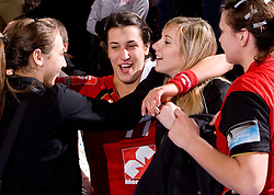 Andrea Lekic of Krim at handball match of Round 3 of Champions League between RK Krim Mercator and Hypo Niederosterreich, on November 8, 2009, in Arena Kodeljevo, Ljubljana, Slovenia.  Krim won 35:24. (Photo by Vid Ponikvar / Sportida)