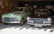 Old cars on display at Stonham Barns, Suffolk, England, UK