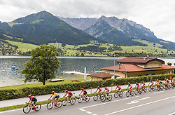 03.07.2016, Salzburg, AUT, Ö-Tour, Österreich Radrundfahrt, 1. Etappe, Innsbruck nach Salzburg, im Bild das Hauptfeld am Walchsee // the Peleton at the Walchsee during the Tour of Austria, 1st Stage from Innsbruck to Salzburg at Salzburg, Austria on 2016/07/03. EXPA Pictures © 2016, PhotoCredit: EXPA/ JFK