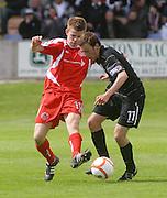 Ayr's Stuart Brannigan and Brechin's Jamie Redman - Brechin City v Ayr United, IRN BRU Scottish Football League 1st/2nd Division Play Off Final 2nd leg at Glebe Park..© David Young Photo.5 Foundry Place.Monifieth.Angus.DD5 4BB.Tel: 07765252616.email: davidyoungphoto@gmail.com.http://www.davidyoungphoto.co.uk