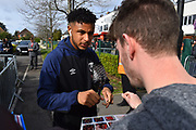 Lys Mousset (9) of AFC Bournemouth arrives at the Vitality Stadium before the Premier League match between Bournemouth and Manchester City at the Vitality Stadium, Bournemouth, England on 2 March 2019.