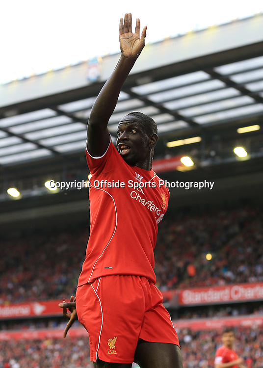 13th September 2014 - Barclays Premier League - Liverpool v Aston Villa - Mamadou Sakho of Liverpool appeals - Photo: Simon Stacpoole / Offside.
