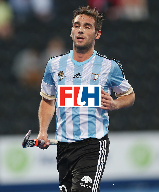 LONDON, ENGLAND - JUNE 16:  Matias Paredes of Argentina Matias Paredes during the Hero Hockey World League semi final match between Argentina and Malaysia at Lee Valley Hockey and Tennis Centre on June 16, 2017 in London, England.  (Photo by Alex Morton/Getty Images)