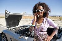 Woman Having Car Trouble