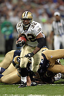 Saints running back Antowain Smith (32) during game action against St. Louis at the Edward Jones Dome in St. Louis, Missouri, October 23, 2005.  The Rams beat the Saints 28-17.