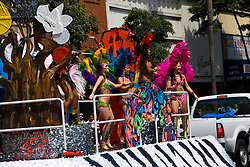 California: San Francisco Carnaval festival parade in the Mission District. Photo copyright Lee Foster. Photo # 30-casanf81146