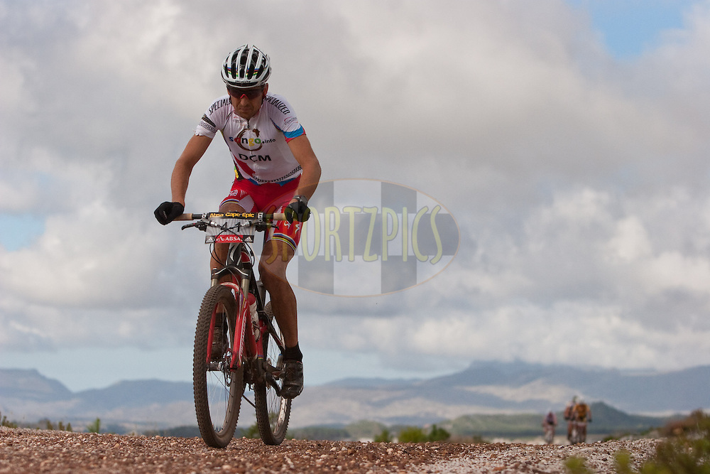 Christoph Sauser of Songo-Specialized during the final stage (stage eight) of the 2010 Absa Cape Epic Mountain Bike stage race held between Oak Valley and Lourensford in the Western Cape, South Africa on the 28 March 2010..Photo by Nick Muzik/SPORTZPICS