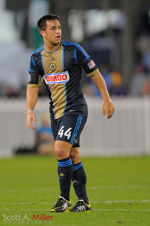 Philadelphia Union forward Daniel Cruz (44) during the Disney Pro Soccer Classic on Feb 9, 2013  in Lake Beuna Vista, Florida. ..©2013 Scott A. Miller